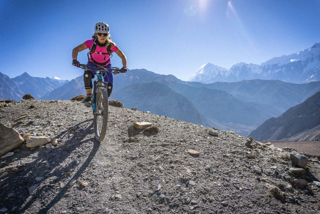 lupra pass mountain biking down hill